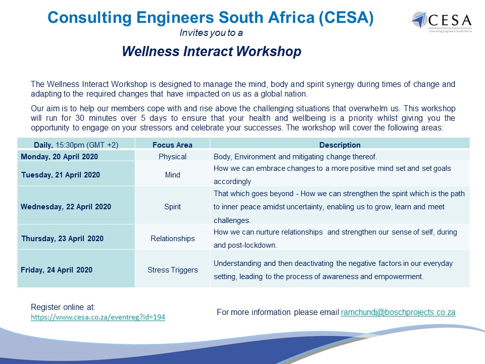 CESA invites you to a Wellness Interact Workshop